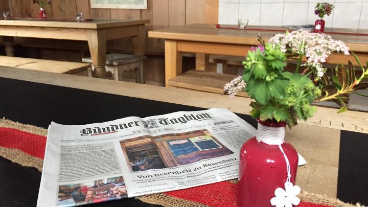 100 Jahre Calandahütte und die HWSGR als Tagblattkurier!
